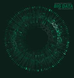 Big data circular green vector