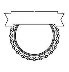 Black silhouette heraldic irregular round stamp vector