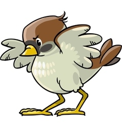 Brave sparrow vector