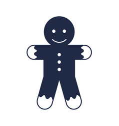 Christmas gingerbread man isolated icon vector