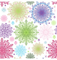 colorful pattern with lacy vivid circles vector image vector image