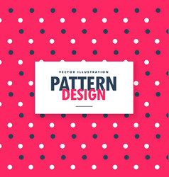 Cute red blue and white polka circles pattern vector