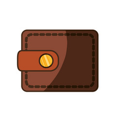 Cute wallet to save money vector