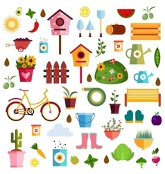 Garden pattern nature vector