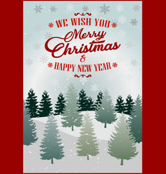 merry christmas lettering design vector image