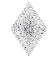 Original drawing ethnic tribal doddle rhombus 3 vector