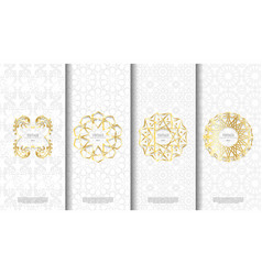 packaging template islamic pattern design element vector image