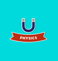 Paper sticker on stylish background physics lesson vector