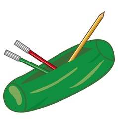 pencil box vector image