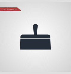 Putty knife icon simple vector