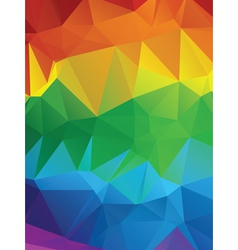 Rainbow Polygonal Background3 vector image