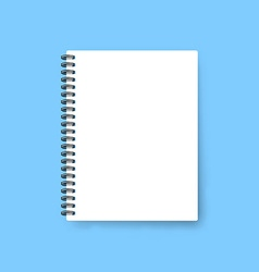 Realistic notebook template Blank cover design vector image