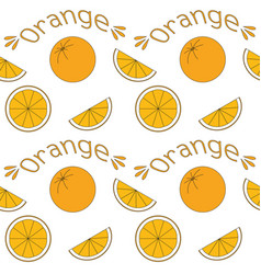 seamless background with oranges vector image vector image