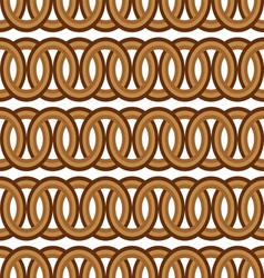 seamless brown circle Chain pattern background vector image
