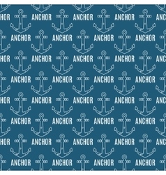 Seamless pattern with anchors and text vector image vector image