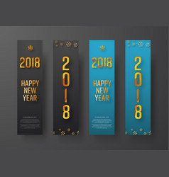 set of blue and black vertical web banners happy vector image vector image