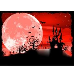 Spooky halloween with horror house eps 8 vector