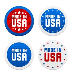 Stickers with Made in USA vector image vector image