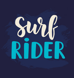 Surf rider poster surfing theme vector