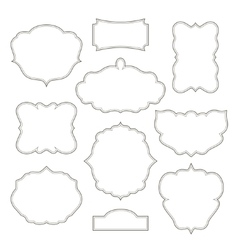 Vintage frames isolated on white background vector image vector image