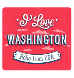 Vintage greeting card from washington vector