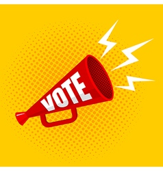 megaphone vote yellow vector image