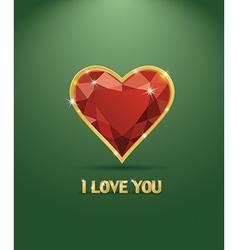 Valentines day luxury diamond heart vector image
