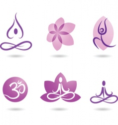 zen and yoga logos vector image