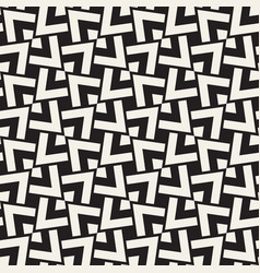 geometric ornament with striped rhombuses vector image