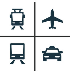shipment icons set collection of streetcar vector image