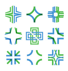 medical abstract symbol from transparent vector image