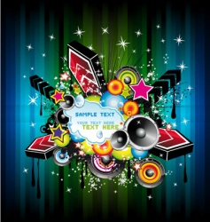 Disco music poster vector