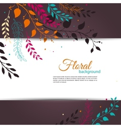 Floral design template vector