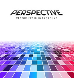 Abstract perspective tiles vector
