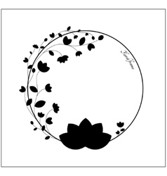 Elegant black and white floral frame vector