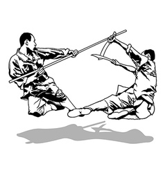 Kung-fu fighters vector