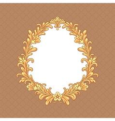 Floral baroque frame vector