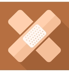 Adhesive plaster icon in flat style with vector