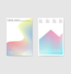 abstract poster gradient layers background vector image vector image