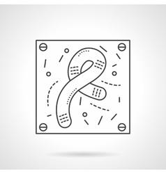 Bacilli icon flat line design icon vector image vector image