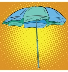 Beach umbrella blue green vector image