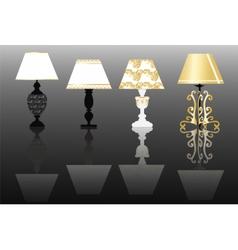 Classic lamp set with ornaments vector image vector image