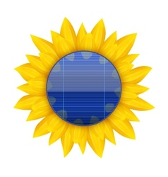 Concept of Blue electric solar panel with vector image