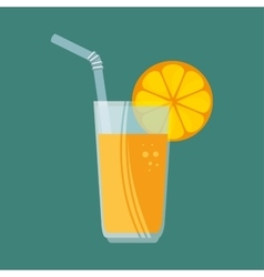 Delicious juicy fresh orange for sport vector