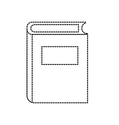 dotted shape book object to education knowledge vector image