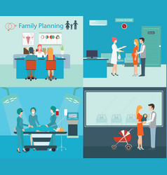 family planning at the hospital vector image vector image