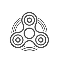fidget spinner line icon vector image