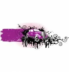 grunge car vector image vector image