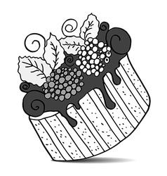 Hand drawn cake vector