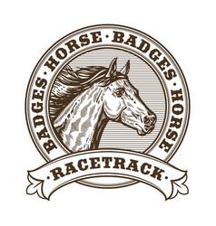 Horse racetrack badges vector